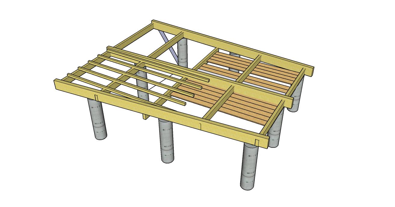 plancher cabane autonome